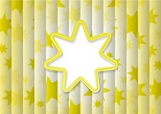 Abstract Background With Yellow Sun Stock Image