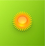 Yellow Sun Background Royalty Free Stock Photography