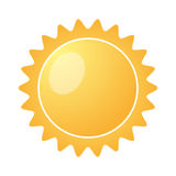 Yellow Sun burst icon isolated on a white background. Vector illustration Stock Photography