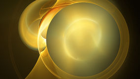 Yellow sun flame circles abstract background Royalty Free Stock Images