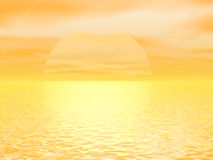 Yellow Sun Giant. Sunset of a giant yellow sun Royalty Free Stock Photos