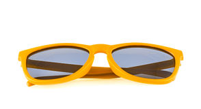 Yellow sun glasses isolated Royalty Free Stock Image