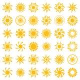 Yellow sun icon. Royalty Free Stock Image