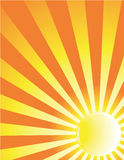Yellow sun ray background. Yellow and orange sun background Stock Photos
