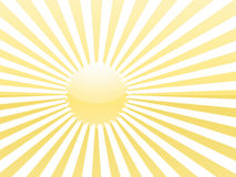 Yellow sun rays Royalty Free Stock Photos