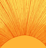 Yellow sun rays background Stock Images