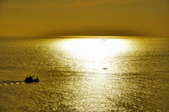 Yellow Sun Set Royalty Free Stock Images
