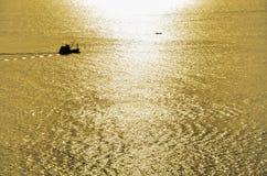 Yellow Sun Set Stock Image