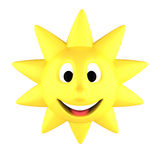 Yellow sun smiling Stock Photo