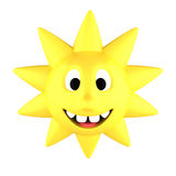 Yellow sun smiling Stock Photography