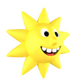 Yellow sun smiling Royalty Free Stock Images