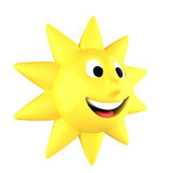 Yellow sun smiling Royalty Free Stock Image