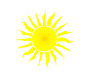 Yellow sun. Stock Photos