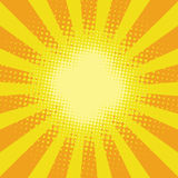 Yellow sunbeam rays Royalty Free Stock Photography