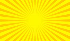 Yellow sunbeams or sun rays background with dots pop art design. Vector abstract background. With dispersive, divergent halftone light beams Royalty Free Stock Image