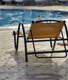 Yellow sunbed. Beautiful yellow sunbed, outdoor, swimming pool Stock Images
