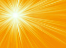Yellow Sunburst Background Stock Image