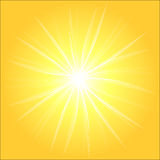 Yellow sunburst background Stock Photography