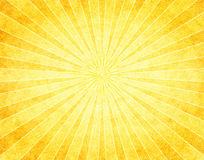 Yellow Sunburst on Paper Royalty Free Stock Image