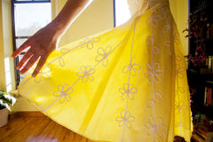 Yellow Sundress Stock Photo