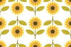Yellow sunflower seamless pattern Stock Image