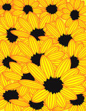 Yellow sunflowers background. Artistic background of yellow sunflowers in bloom Stock Illustration