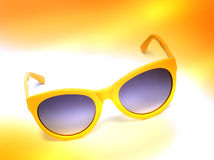 Yellow sunglasses Stock Photo
