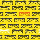 Yellow sunglasses background Royalty Free Stock Photo