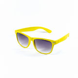 Yellow sunglasses isolated Stock Images