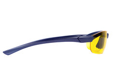 Yellow sunglasses. Side view. Stock Photo