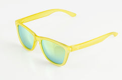 Yellow sunglasses Royalty Free Stock Images