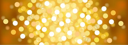 Yellow sunny festive lights. Vector  background. Stock Images