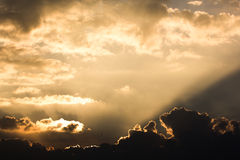 Yellow sunray beam Royalty Free Stock Images