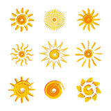 Yellow suns Stock Photos
