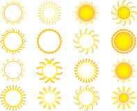 Yellow suns Stock Image
