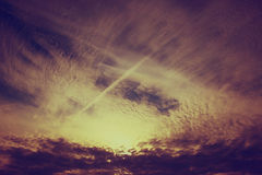 Yellow sunset clouds Royalty Free Stock Image