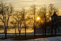 Yellow sunset Royalty Free Stock Photos