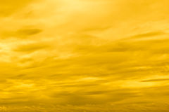 Yellow sunset sky Stock Photo