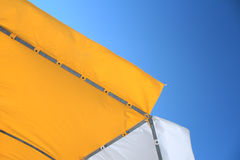 Yellow sunshade Royalty Free Stock Images