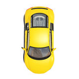 Yellow Super Car Isolated on the White Background Royalty Free Stock Photography