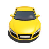 Yellow Super Car Isolated on the White Background Stock Photos