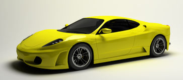 Yellow supercar Royalty Free Stock Images