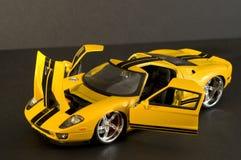 Yellow supercar stock photography