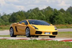Yellow supercar Stock Photo