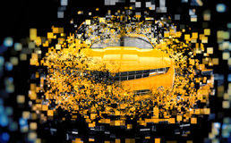Yellow supercar - abstract illustration Stock Image