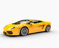 Yellow Supercar Royalty Free Stock Photos