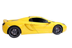 Yellow supercar isolated Royalty Free Stock Photography
