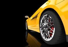 Yellow Supercar Wheel Royalty Free Stock Photography