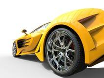 Yellow supercar - wheel closeup Royalty Free Stock Image