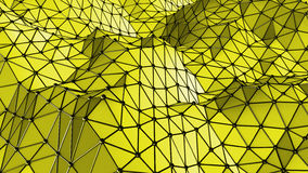 Yellow Surface Triangles geometric background Royalty Free Stock Photos